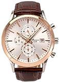 [バロン]Baron 腕時計 クロノグラフ 10気圧防水 日本製ムーブ使用 シルバー×ピンクゴールド BR-PH004 メンズ