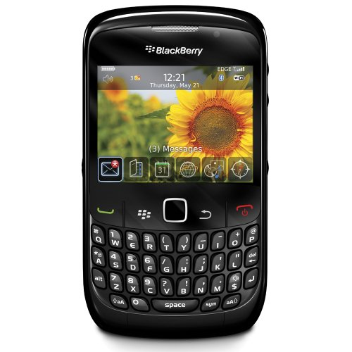BlackBerry 8520 Unlocked Phone with 2 MP Camera, Bluetooth, Wi-Fi–International Version with No Warranty (Black)