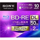 SONY ビデオ用BD-RE 書換型 片面2層50GB 2倍速 ホワイトプリンタブル 10枚パック 10BNE2VGPS2