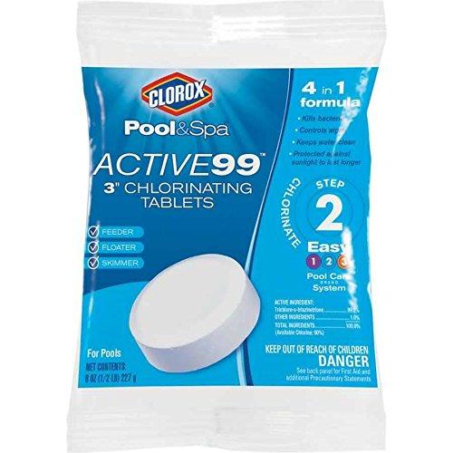 Clorox Pool Spa Active99 Chlorinating Tablets 3 8 Oz Tablet New