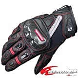 コミネ(Komine) GK-160 Protect Leather M-Gloves BRAHMA BLACK/RED XL 06-160
