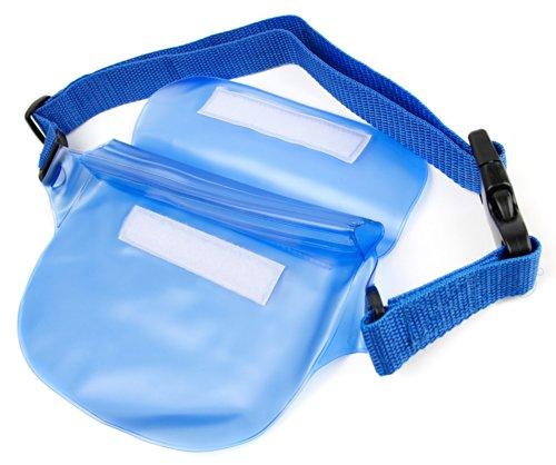 Wasserdichte Hüfttasche / Gürteltasche für Panasonic Lumix DMC-TZ57, DMC-TZ70, DMC-ZS50, DMC-FT30, DMC-TS30 und DMC-SZ10 Kompakt Kameras - Blau - von DuraGadget
