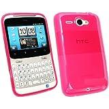 Kit Me Out DE TPU-Gel-Hülle für HTC Chacha - Pink Gefrostet
