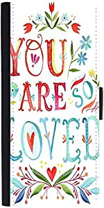 Snoogg You Are So Loved Designer Protective Phone Flip Case Cover For Samsung Galaxy E5