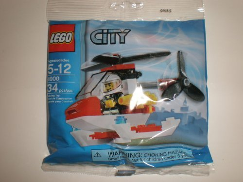 LEGO City Mini Figure Set 4900 Fire Helicopter - Bagged (34 pieces) - 1