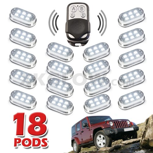 Premium Remote Control 18 Pod 108 Led 4X4 Off Road Vehicle Rock Fender Light Kit