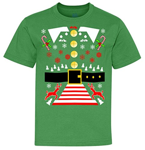 Youth T-Shirt: Elf Costume Ugly Christmas Sweater