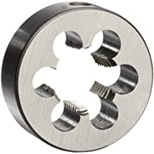 "Union Butterfield 2010(NPT) Carbon Steel Round Threading Die, Uncoated (Bright) Finish, 3/8""-18 Thread Size"