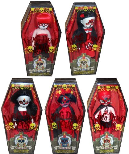 Buy Low Price Mezco Living Dead Dolls Series 20 Days Of The Dead Variant Set Of 5 Figure (B004UMQ3FA)