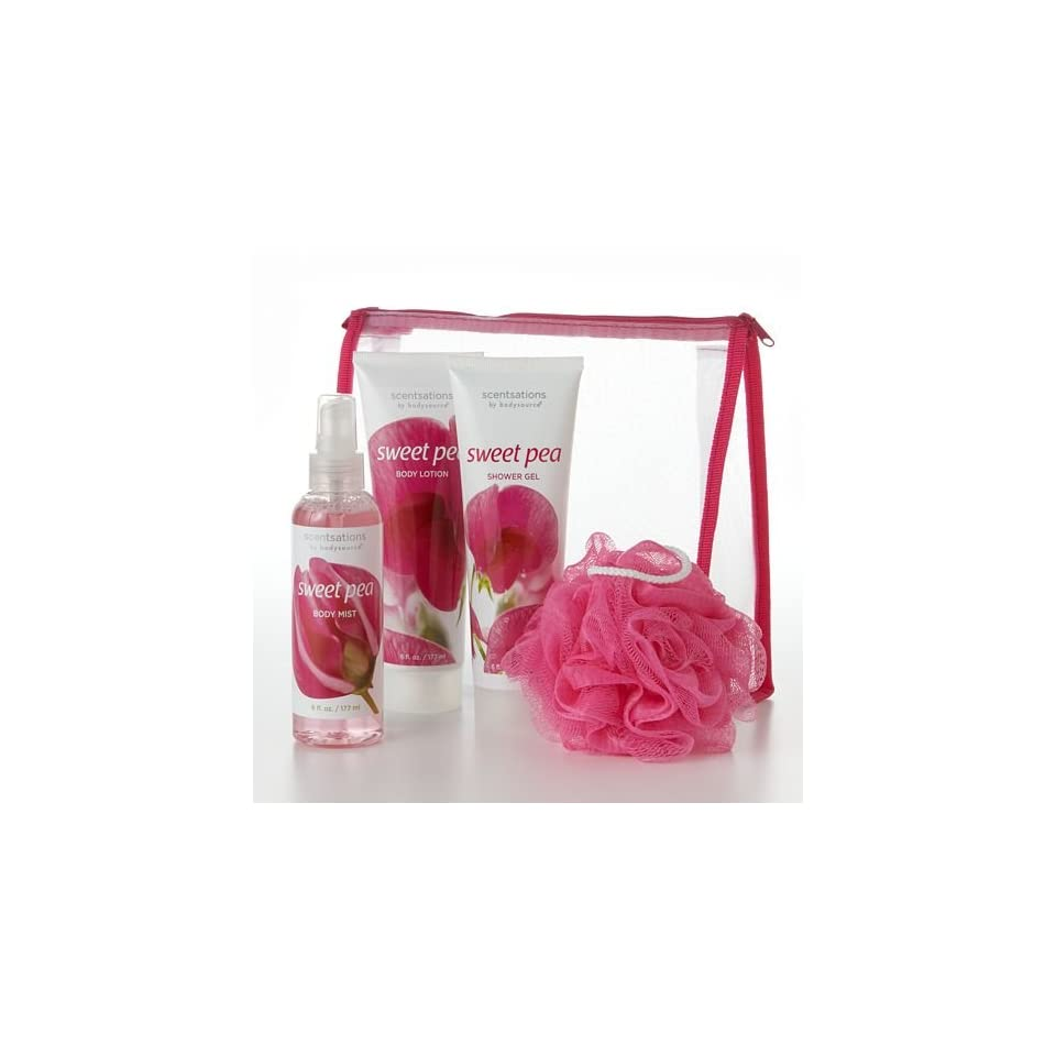 Scentsations Sweet Pea Shower Gel, Body Lotion and Body