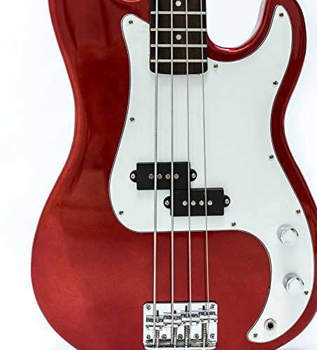 Electric Bass Guitar - Red
