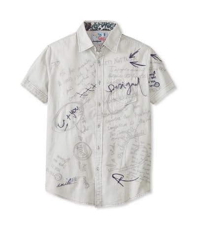 Desigual Men's Flecha Short Sleeve Woven Shirt