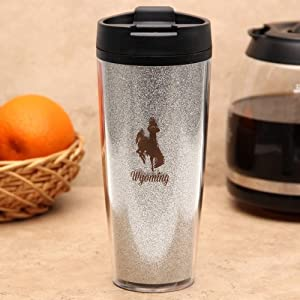 Buy NCAA Wyoming Cowboys Glitter Travel Tumbler, 20-Ounce by Northwest