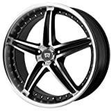 Motegi MR107 16x7 Black Wheel / Rim 5x112 with a 45mm Offset and a 72.60 Hub Bore. Partnumber MR10767056345