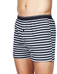 3 Pack Cool & Fresh™ Pure Cotton Striped Boxers with StayNEW™