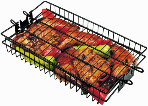 Review Onward Manufacturing Company Non-Stick Flat Spit Rotisserie Grill Basket