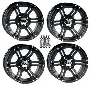 "Amazon.com: ITP SS212 ATV Wheels/Rims Black 12"" Honda"