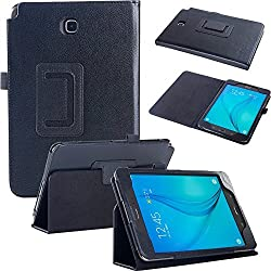 Samsung Tab A 8.0 CASE, Fulland Magnetic Folio PU Leather Smart Stand Case Cover with Auto Sleep/Wake Function for Samsung Galaxy Tab A 8.0 Inch Tablet SM-T350 -Black