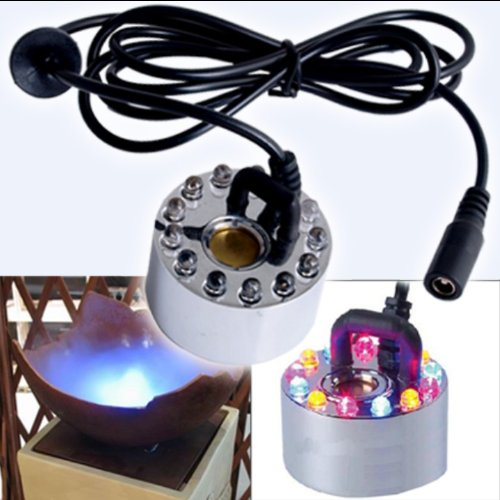 Mist Maker Fogger Replacement Mister with 12 LED Lights (Led Mister Fogger compare prices)