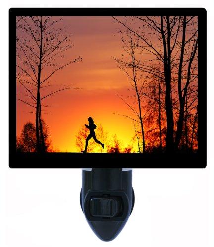 Running Night Light - Woman Jogging - Runner