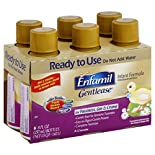 Enfamil Gentlease Infant Formula, Milk-Based with Iron, Ready To Use, 0-12 Months, 6 - 8 fl oz (237 ml) bottles 1.5 qt (1.42 lt)