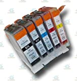 5 Chipped Compatible Canon PGI-5 & CLI-8 Ink Cartridges for the Canon Pixma iP4300 Printer