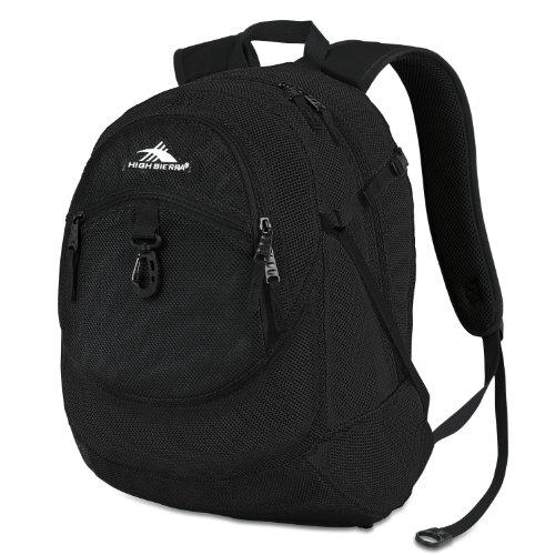 High Sierra Airhead Backpack, Black, 19.5X13X7-Inch front-832219