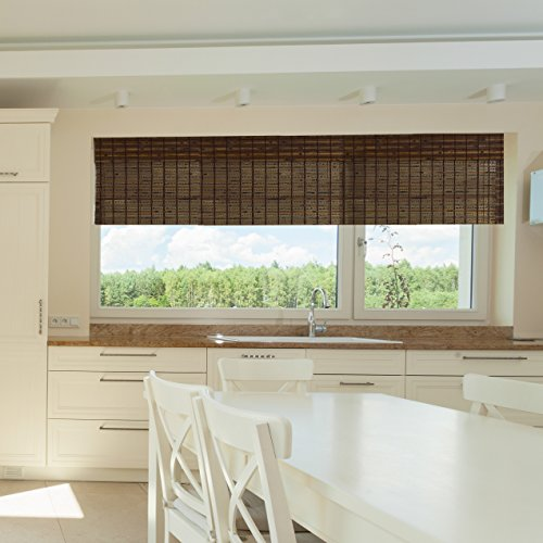 Lewis hyman 0215486 havana bamboo roman shade 23 inch for Roman shades for wide windows