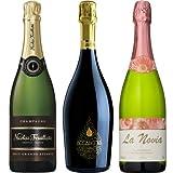 【Amazonワインエキスパート厳選】3大ワイン大国スパークリングワインセレクト飲み比べ3本セット750ml×3本