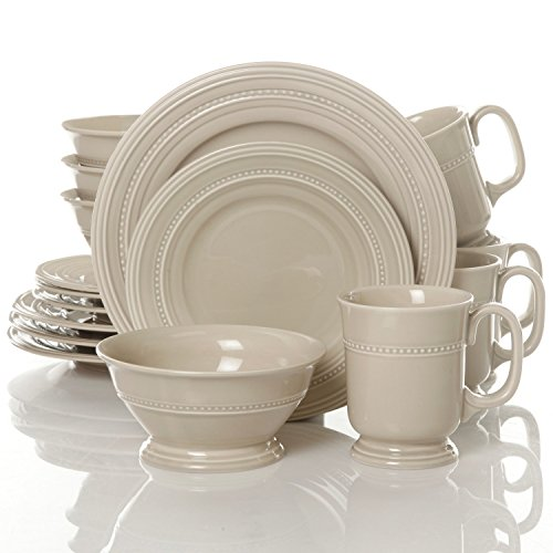 Gibson Barberware 16 Piece Dinnerware Set, Cream (Cream Dinnerware Set compare prices)