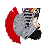 Beard Head® - The Original Barbarian Knight Knit Beard Hat (Black)