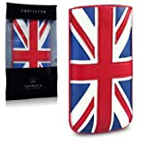 Terrapin PU Leather Pocket Case for iPhone 5S - Union Jack