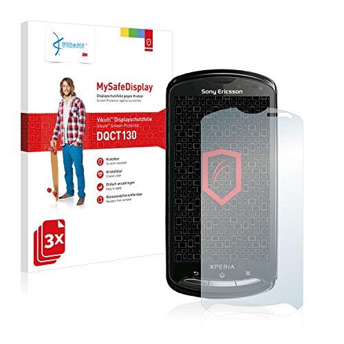 3x Vikuiti MySafeDisplay Displayschutzfolie DQCT130 von 3M passend für Sony Ericsson Xperia Pro MK16 MK16i (Kristallklar, Kratzfest, Schmutzabweisend, Sehr einfache Montage, Rückstandsfrei entfernbar)