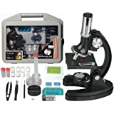 AmScope M30-ABS-KT51 / M30-ABS-KT2 51-piece 300x-600x-1200x Metal Frame Kids Student Beginner Compound Microscope Kit