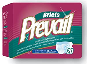 Prevail Adult Briefs (Diapers), Size Small, Full Case of 96 Briefs (217-9919) from First Quality