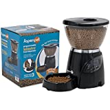 Aspen Pet LeBistro Portion Control Automatic Pet Feeder, Black, 5 pounds.