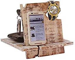 AB Handictafts - Shabby Chic Mango Wooden Android Docking Station, 50th Anniversary Gifts for Couple , Funny Fathers Day Gifts, iPhone 6s plus, 6s, 6 plus, 6, 5, 5s, 4, Samsung Galaxy (For Daily Use)