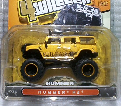 Jada Bigtime 4 Wheelin' 1:64 Hummer H2 Black/Yellow #31