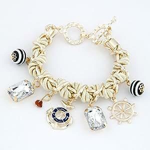 Amazon.com: Fashion Rope Bracelets for Women Gold Pulseras Mujer