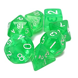 KINGSO 7-Dice Sided Set MTG D&D RPG BRPG Poly Board / Chess Game D4 D6 D8 D10 D12 D20