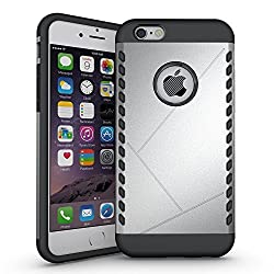 iPhone 6S Plus Case, Pasonomi [Shield Armor] Hybrid High Impact Dual Layer Defender Protective Case Cover for Apple iPhone 6S plus 2015 Smartphone (Shield Series Silver)