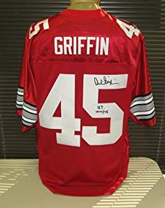 Archie Griffin Signed Ohio State Nike Jersey HT 74 75 by Radtke+Sports