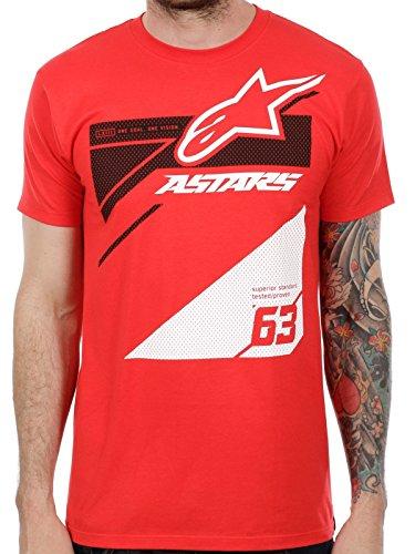 ALPINESTARS Men's Chisel T-Shirt, Red, Large