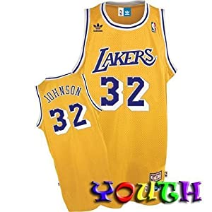Adidas Los Angeles Lakers Magic Johnson Youth (Sizes 8-20) Soul Swingman Home Jersey by adidas