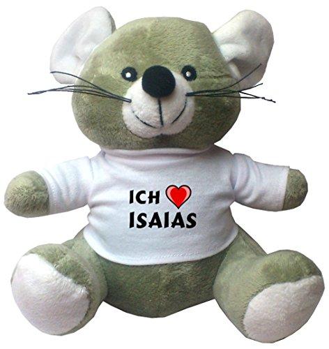 maus-pluschtier-mit-ich-liebe-isaias-t-shirt-vorname-zuname-spitzname