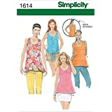 Simplicity Creative Patterns 1614 Misses' Tops with Back Details, P5 (12-14-16-18-20)