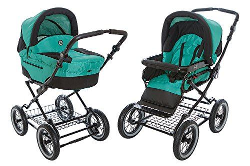 Cheap Roan Rocco Classic Pram Stroller 2-in-1 with Bassinet and Seat Unit - Multiple Colors (Aquamar...