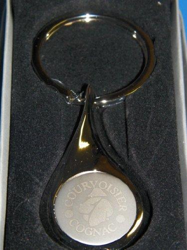 courvoisier-cognac-etched-chrome-teardrop-keychain-key-ring