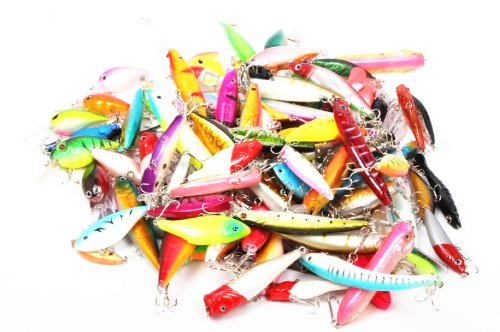 60pcs Collection/assorted of Fishing Hard Lures Crankbaits/swimbaits Bass Freshwater Fishing