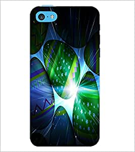 PrintDhaba Colourful Eggs D-3889 Back Case Cover for APPLE IPHONE 5C (Multi-Coloured)